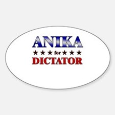 ANIKA for dictator Oval Decal