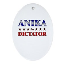 ANIKA for dictator Oval Ornament