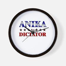 ANIKA for dictator Wall Clock