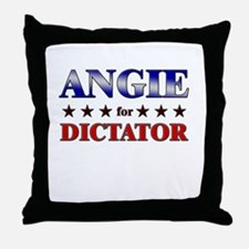 ANGIE for dictator Throw Pillow