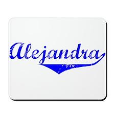 Alejandra Vintage (Blue) Mousepad
