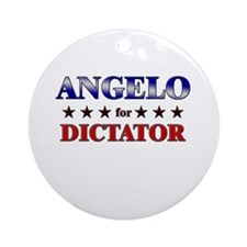 ANGELO for dictator Ornament (Round)
