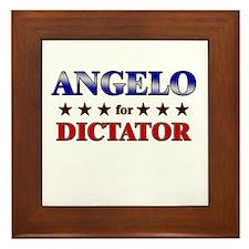 ANGELO for dictator Framed Tile