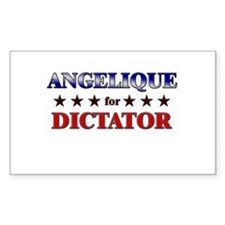 ANGELIQUE for dictator Rectangle Decal