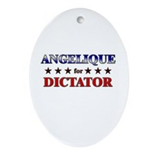 ANGELIQUE for dictator Oval Ornament