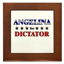 ANGELINA for dictator Framed Tile