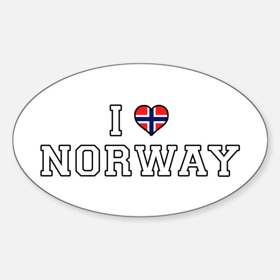 I Love Norway Decal