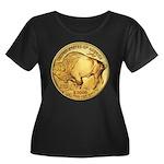 Gold Buffalo Women's Plus Size Scoop Neck Dark T-S