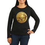 Gold Buffalo Women's Long Sleeve Dark T-Shirt