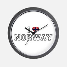 I Love Norway Wall Clock