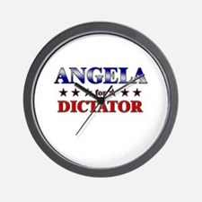 ANGELA for dictator Wall Clock