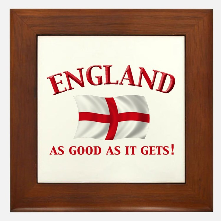 English Flag Framed Tile