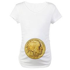 Gold Indian Head Maternity T-Shirt