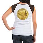 Gold Indian Head Women's Cap Sleeve T-Shirt