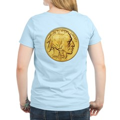 Gold Indian Head Women's Light T-Shirt