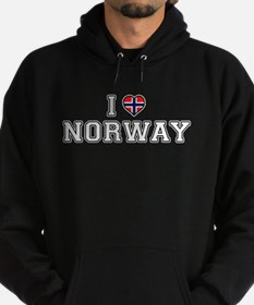 I Love Norway Hoodie (dark)