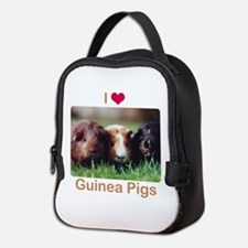 I Love Guinea Pigs Neoprene Lunch Bag