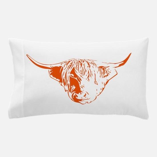 Scottish Ginger Highland Cow Pillow Case