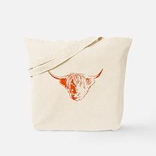 Scottish Ginger Highland Cow Tote Bag