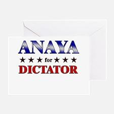 ANAYA for dictator Greeting Card