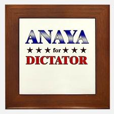 ANAYA for dictator Framed Tile