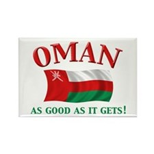 Omani Flag Rectangle Magnet