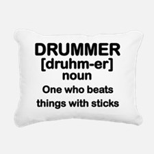 Cute Drummer Rectangular Canvas Pillow