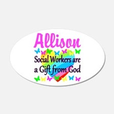 SOCIAL WORKER Wall Decal