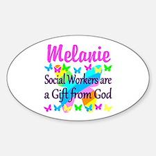 SOCIAL WORKER Sticker (Oval)