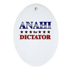 ANAHI for dictator Oval Ornament