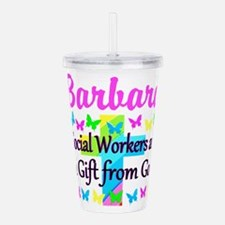 SOCIAL WORKER Acrylic Double-wall Tumbler