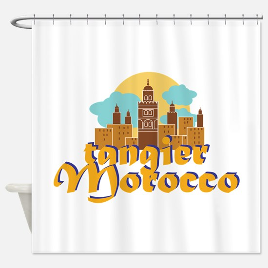 Tangier Morocco Shower Curtain