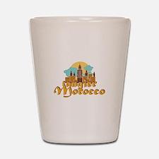 Tangier Morocco Shot Glass