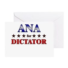 ANA for dictator Greeting Card