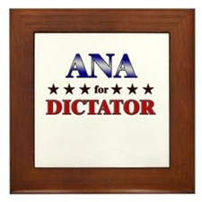 ANA for dictator Framed Tile