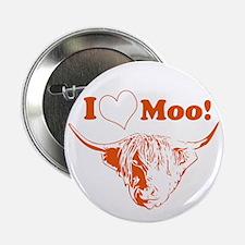 "I Love Moo Highland Cow 2.25"" Button"