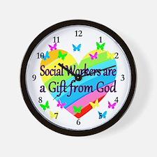 SOCIAL WORKER Wall Clock