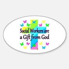 SOCIAL WORKER Sticker (Oval)