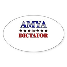 AMYA for dictator Oval Decal