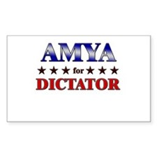 AMYA for dictator Rectangle Decal