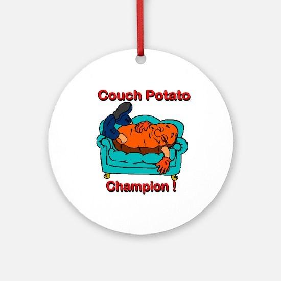 Couch Potato Champ Ornament (Round)