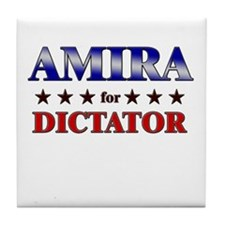 AMIRA for dictator Tile Coaster