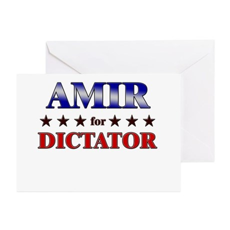 AMIR for dictator Greeting Cards (Pk of 20)