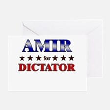 AMIR for dictator Greeting Card