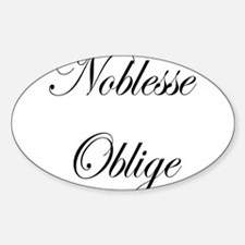 Noblesse Oblige Rectangle Decal