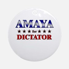 AMAYA for dictator Ornament (Round)