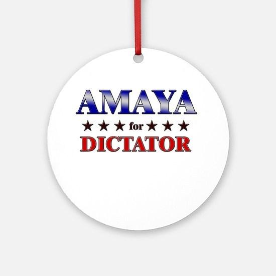 AMAYA for dictator Ornament (Round)