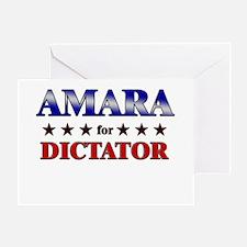 AMARA for dictator Greeting Card