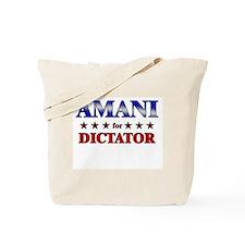 AMANI for dictator Tote Bag