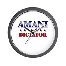 AMANI for dictator Wall Clock